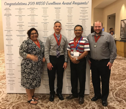 2019 NISOD award winners shown here are Angelita Ybarra, Brian Williams, Dr. Sudeep Majumdar and ...